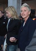 9 September 2010- New York, NY- l to r: Portia De Rossi and Ellen Degenres at the 2010 Mercedes-Benz Fashion Week held at the Lincoln Center's Damrosch Park, the new home for Fashion Week on September 9, 2010 in New York City. Photo Credit: Terrence Jennings