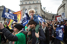 MAR 26 2014 National Union of Teachers march in London