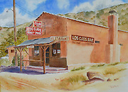 mkb102114j/arts/Marla Brose/102114<br /> This is &quot;Los Ojos Bar&quot;, a watercolor by Susan Seligman Kennedy. Kennedy will show her work in the Weems International Artfest. (Marla Brose/Albuquerque Journal)