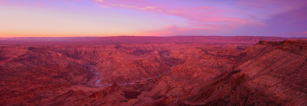 Dawn at Main view of Fish River Canyon, Hobas, Fish River Canyon Area Conservation, Karas Region, Namibia