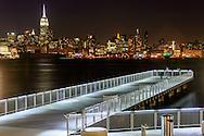 Shoreline Hoboken, New Jersey and Midtown Manhattan Skyline, New York CIty, NY