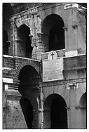 The Colosseum was used as an Amphitheatre to watch games of battles between men and wild animals, or after flooding the arena with water, staging sea fights for the spectators.