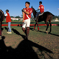 Philippines, Luzon Island, Polo match at Manila Polo Club in the exclusive Forbes Park neighborhood
