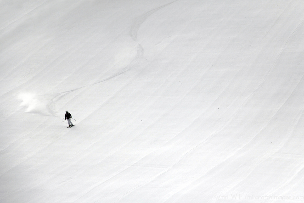 USA, Colorado, Beaver Creek. Skier on the slopes of the Beaver Creek Ski Resort.