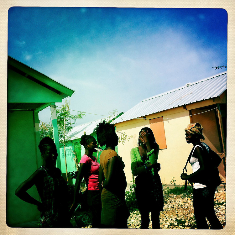 Girls at the Corail camp on Wednesday, April 4, 2012 in Port-au-Prince, Haiti.