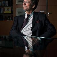 Boulogne Billancourt, France le 15 septembre 2014. Portrait de Christophe Blanchard Dignac president directeur general de la Francaise des Jeux, dans son bureau au siege du groupe