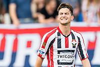TILBURG - Willem II - Vitesse , Voetbal , Seizoen 2015/2016 , Eredivisie , Koning Willem II Stadion , 09-08-2015 , Willem II speler Erik Falkenburg blij met zijn goal voor de 1-0