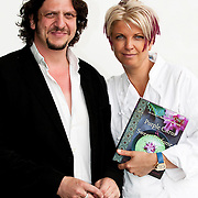 Food critic Jay Rayner with Silvena Rowe - Taste of London 2010