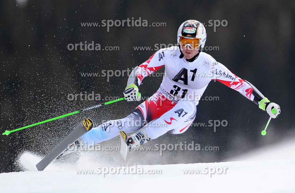 07.12.2014, Birds of Prey Course, Beaver Creek, USA, FIS Weltcup Ski Alpin, Beaver Creek, Herren, Riesenslalom, 1. Lauf, im Bild Hannes Reichelt (AUT) // Hannes Reichelt of Austria in actionduring the 1st run of men's Giant Slalom of FIS Ski World Cup at the Birds of Prey Course in Beaver Creek, United States on 2014/12/07. EXPA Pictures © 2014, PhotoCredit: EXPA/ Erich Spiess
