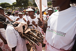 African women from Ecumenical Platform during the opening march of the VII World Social Forum (WSF). Thousands of activists from all over the world attended the seventh annual WSF meeting. Uhuru's Park at Nairobi, Kenya, Africa