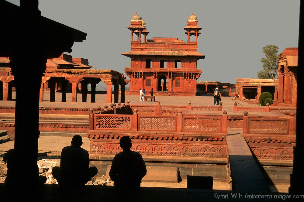 Asia, India, Uttar Pradesh, Fatehpur Sikri. A scenic silhouette view at Fatehpur Sikri.