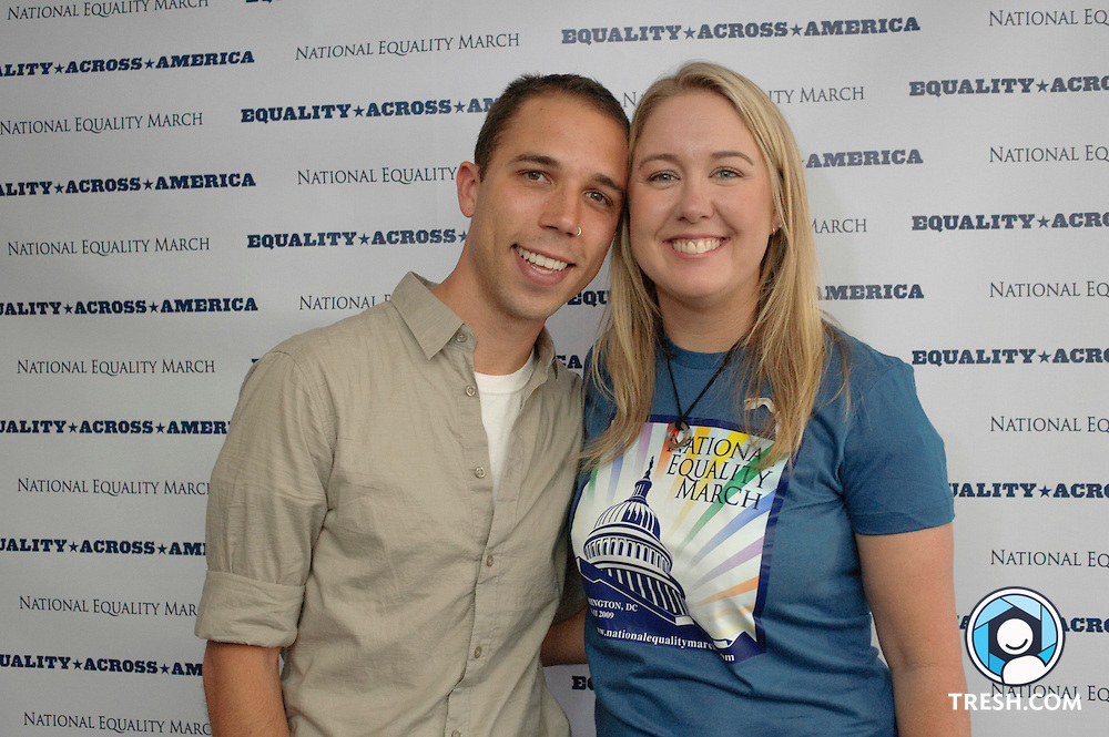 Kip Williams and Robin McGehee, co-directors of the National Equality March.