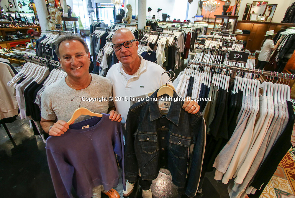 Larry Russ, left, and Mark Wertz, cofounders of retailer American Rag.<br /> (Photo by Ringo Chiu/PHOTOFORMULA.com)