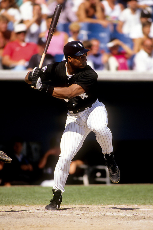 CHICAGO - 1993:  Bo Jackson of the Chicago White Sox bats during a game at Comiskey Park in Chicago, Illinois. (Photo by Ron Vesely)