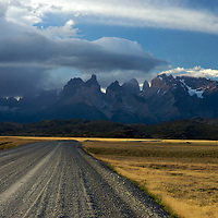 An old gravel road leads to Patagonia.