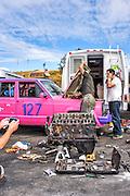 Shelton, Washington - July 12, 2015: during the 24 Hours of LeMons Pacific Northworst GP race at The Ridge Motorsports Park in Shelton Washington.<br /> CREDIT: Matt Roth