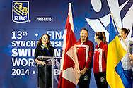 Opening Ceremony<br /> 13 th FINA Synchronised Swimming World Cup<br /> Quebec City, Canada CAN 2014  Oct.2 nd - 5th<br /> Day1 - Oct.2 Opening Ceremony<br /> Photo G. Scala/Deepbluemedia