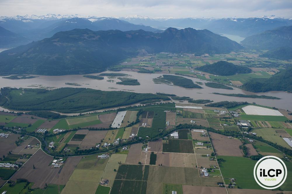 Fertile soil in the Fraser Valley is intensively farmed.