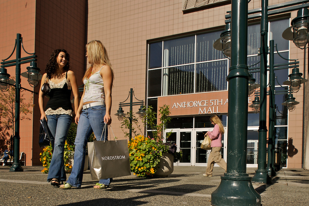 Young shoppers, Fifth Avenue Mall, downtown, Anchorage