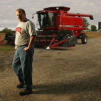 Steve Miller on his farm in Bucyrus, Ohio.