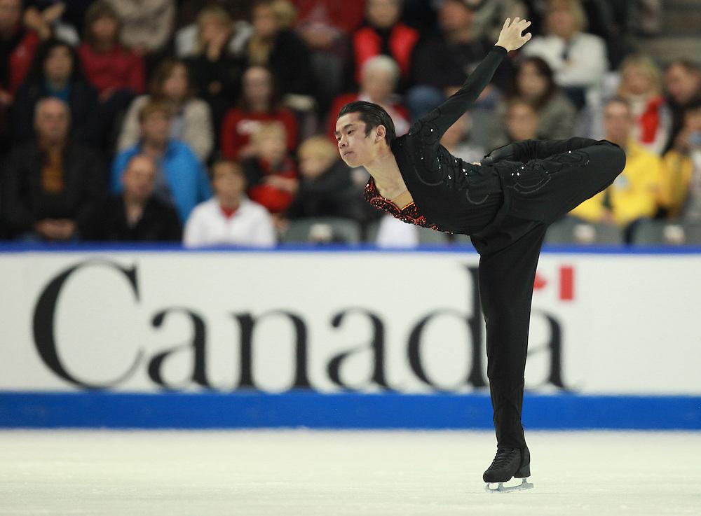 20101029 -- Kingston, Ontario --  Nobunari Oda of Japan skates his short program at the 2010 Skate Canada International in Kingston, Ontario, Canada, October 29, 2010.<br /> AFP PHOTO/Geoff Robins