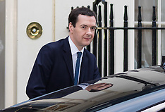 2016-03-22 Chancellor George Osbour leaves Downing Street for Parliament budget debate