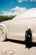 "German ""Ideas"" sculpture, ""the car"" next to the Brandenburg Gate."