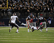 Ole Miss' Randall Mackey (1) vs. Texas A&M in Oxford, Miss. on Saturday, October 6, 2012. Texas A&M won 30-27...