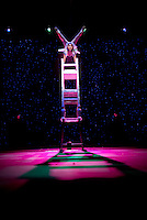 The Chair Stack and Lira Act routine during the BAI XI Chinese Circus opening at The New Victory Theater in New York. ...Photo by Robert Caplin.