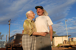 , residents of Laverton Caravan ParkFlo & Kris McDade, September 10 2006.
