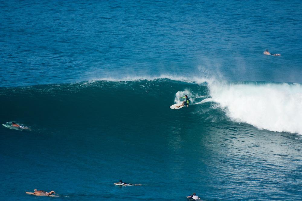 Surfing at Honolua Bay, Maui, Hawaii