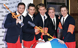 Collabro - Richaed Hadfield, Michael Auger,  Jamie Lambert, Matt Pagan and Thomas Redgrave  attend Hoff The Record TV Premiere at Empire Cinema, Leicester Square, London on Wednesday 20 May 2015