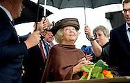 5-9-2015 WAARDE- Prinses Beatrix der Nederlanden woont zaterdagochtend 5 september in Waarde de opening van provinciale Molendag Zeeland bij. Vereniging De Zeeuwse Molen viert dit jaar zijn 40-jarig jubileum. Prinses Beatrix is bij de offici&euml;le opening van de provinciale Molendag in Zeeland. Ze hees de jubileumvlag bij de molen De Hoed en nam een boek in ontvangst.  COPYRIGHT ROBIN UTRECHT<br /> 5-9-2015 WAARDE Princess Beatrix of the Netherlands attends  Saturday September 5th at the opening in Waarde of provincial Molendag windmill day Zealand at. The Zeeland association windMills is celebrating its 40th anniversary. COPYRIGHT ROBIN UTRECHT