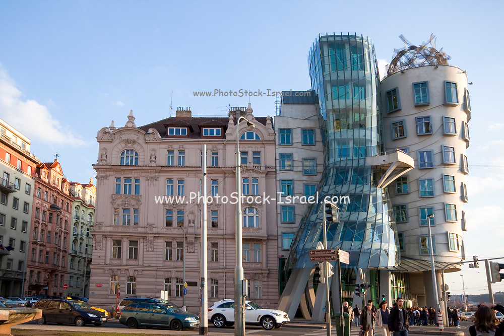 Czech Republic, Prague The Rasin Building AKA Ginger and Fred building, architect Frank Gehry
