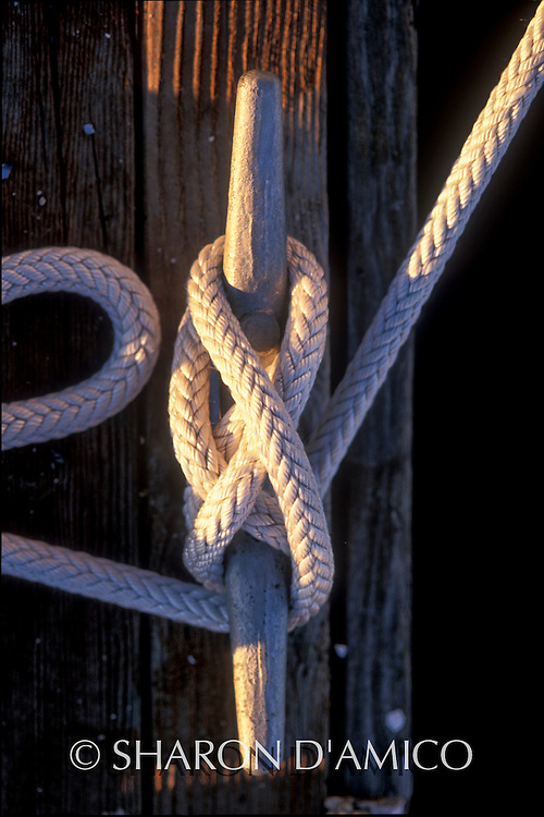 Boat Line, Hitch Knot and Cleat, Secure for the Night