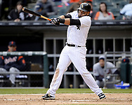 CHICAGO - APRIL 04:  Melky Cabrera #53 of the Chicago White Sox bats against the Detroit Tigers on April 04, 2017 at Guaranteed Rate Field in Chicago, Illinois.  The Tigers defeated the White Sox 6-3.  (Photo by Ron Vesely)   Subject:  Melky Cabrera