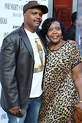 31 August 2010- New York, NY- Reggie Bythewood and his mother, Caroline Bythewood at the screening of ' One Night in Vegas ' held at The Dwyer Cultural Center on August 31, 2010 in the Village of Harlem, New York City.
