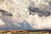 Thunderstorms roll across the landscape of New Mexico.