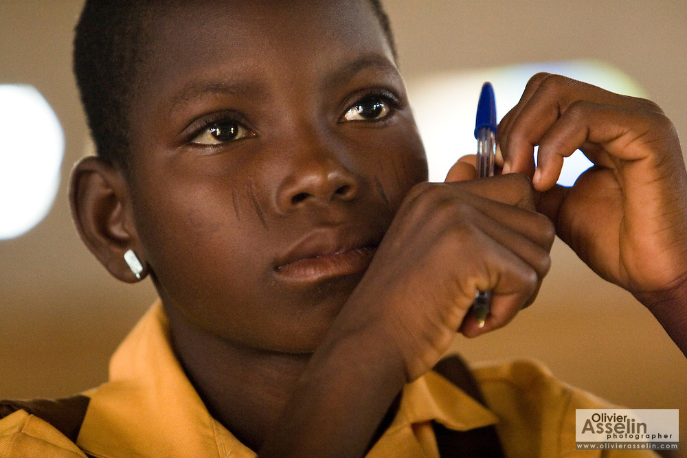 Mariam Alhassan, 11, attends class at the Anglican Primary School in the Savelugu-Nanton district, northern Ghana on Wednesday June 6, 2007.