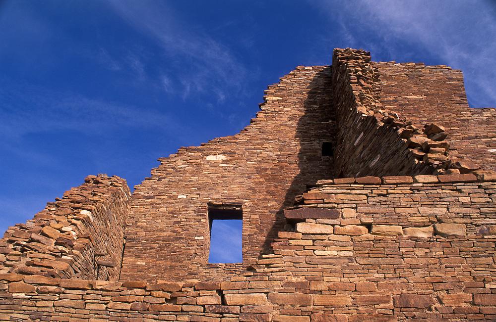 Window and walls, Pueblo Bonito, Chaco Culture National Historical Park, New Mexico.