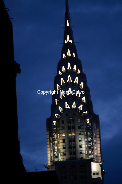 Night View of Chrysler Building, Manhattan, New York City, New York State, USA
