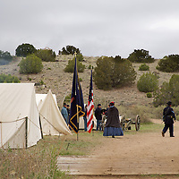 Union forces (5th U.S. Infantry regiment) campsite.