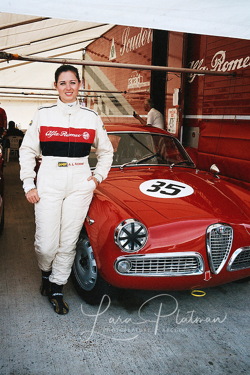 Anna Louise and the Alfa Romeo team at Silverstone Classic