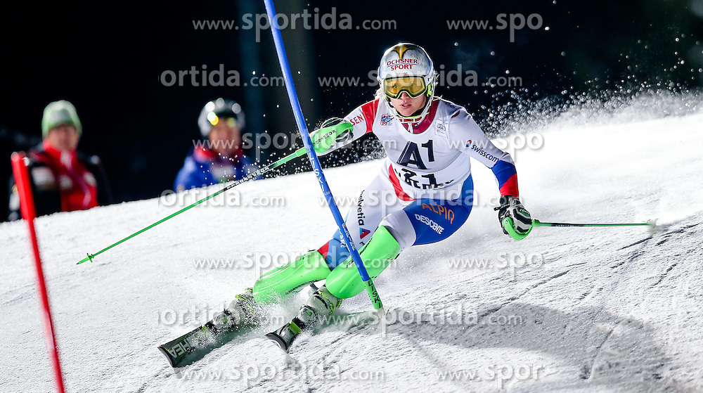 13.01.2015, Hermann Maier Weltcupstrecke, Flachau, AUT, FIS Weltcup Ski Alpin, Flachau, Slalom, Damen, 1. Lauf, im Bild Denise Feierabend (SUI) // Denise Feierabend of Switzerland in action during 1st run of the ladie's Slalom of the FIS Ski Alpine World Cup at the Hermann Maier Weltcupstrecke in Flachau, Austria on 2015/01/13. EXPA Pictures © 2015, PhotoCredit: EXPA/ Johann Groder