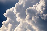 Cumulus clouds over Burgundy, France