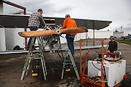 Prepping the Waco 9 for an engine test at WAAAM.
