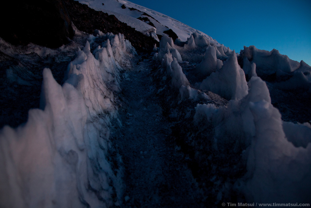 Climbing Mt. Rainier by Camp Muir and the Disappointment Cleaver.