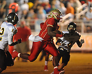 Lafayette High's Jeremy Liggins (1) runs for a touchdown vs. Pontotoc in Oxford, Miss. on Friday, September 23, 2011. Lafayette won 48-7 for the school's 22nd consecutive win.