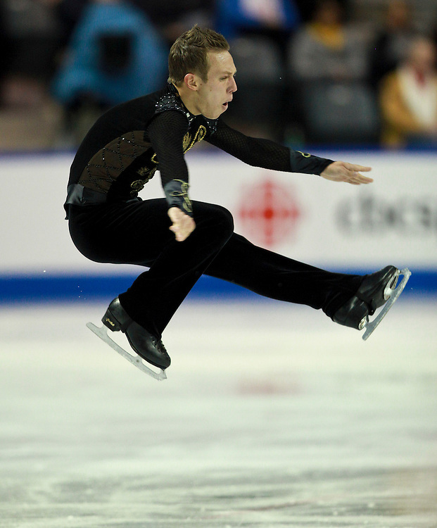 20101030 -- Kingston, Ontario -- Grant Hochstein of the United States skates his free skate at Skate Canada International in Kingston, Ontario, Canada, October 30, 2010. <br /> AFP PHOTO/Geoff Robins