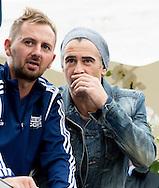 AMSTERDAM - Colin Farrell , Irish actor attends the world homeless soccer worldcup in Amsterdam . COPYRIGHT ROBIN UTRECHT